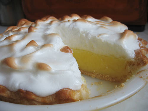 Lemon meringue with our Meyer lemons